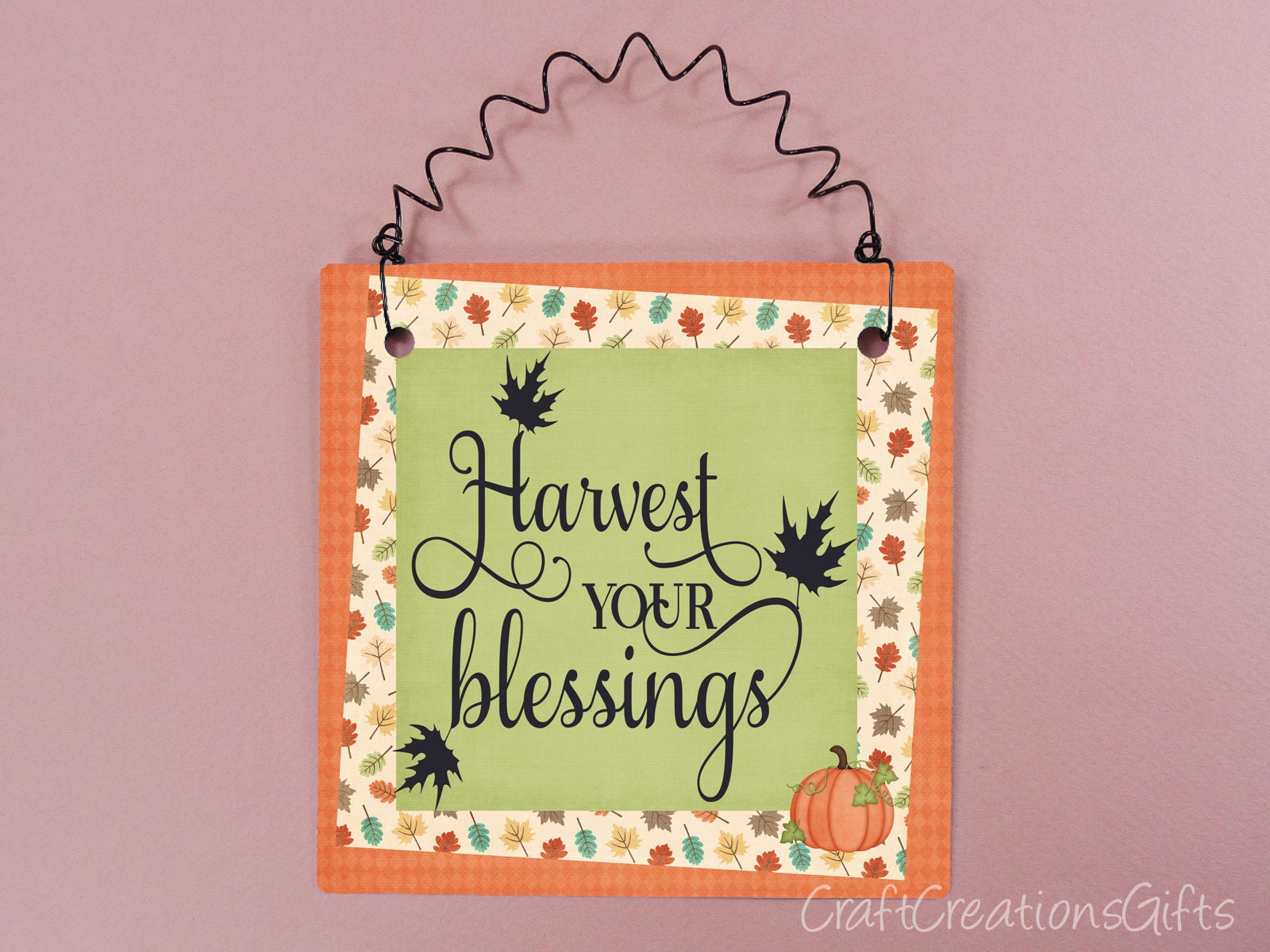 Fall Autumn Sign Harvest Your Blessings Home Decor Quotes Etsy