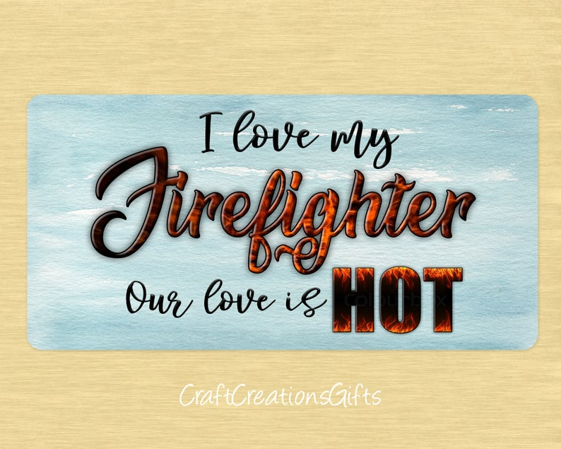 Deco Mesh Front Decor Floral Attachment Proud Fireman Spouse Wife Girlfriend Metal Wreath Sign 12x6 I Love My Firefighter Our Love Is Hot