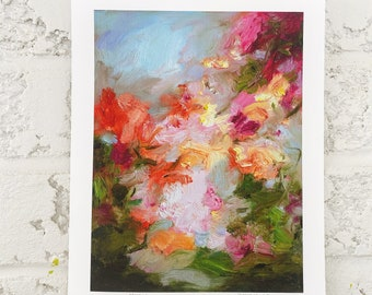 art print - painting print- floral print - flowers - abstract painting print- Charming - giclee print