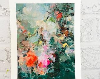 Floral print - art gift -original art print - home gallery -garden -Blessing