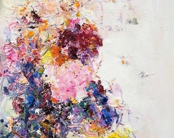 Abstract Art print - Bloom print - Wall art home gift- giclee print - fine art print- Wall Décor- garden blossom