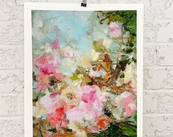 Floral print- wall art-spring garden-home gift- art print- flowers - Delight