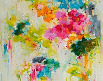 Abstract Painting, abstract art print, Oil Painting, Fine Art Print, Giclee Print, Wall Art,  Flower Print 11x14 12x15 16x20 20x25