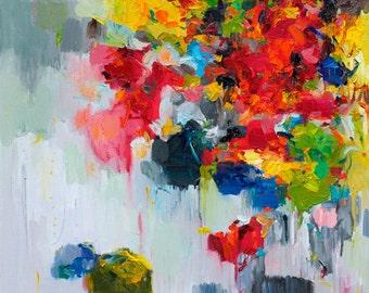 Abstract Art Prints, Wall Art, Abstract Painting, Oil Painting, Fine Art Print , Giclee Print ,  Flower Print 11x14 12x15 16x20 20x25