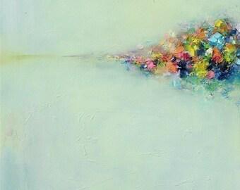 Prints, Art Giclee PRINT Abstract Landscape 3 - 11x14-12x15-16x20- 20x25-oil painting- wall art- wall decor- home decor