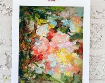 Floral print- wall art-spring garden-home gift- art print- flowers - Glorious