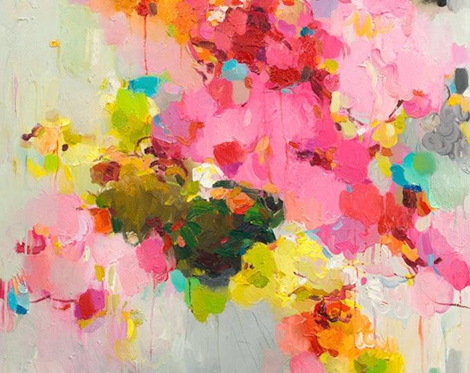 Abstract art print, giclee print, fine art print pink cloud landscape print, Wall Art gift, Wall Décor