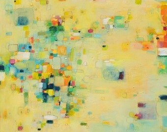 Abstract Print, Abstract Painting, Oil Painting, Fine Art Print , Giclee Print , Wall Art , Wall Décor , Beach Print, yellow print
