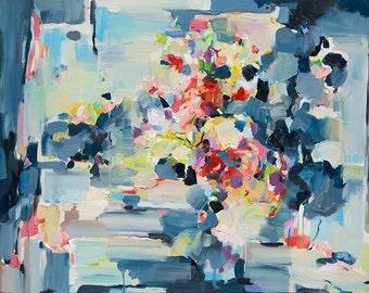 Abstract art Print, blue Print, Abstract Painting, Oil Painting, Fine Art Print , Giclee Print , Wall Art print, blue art poster modern art