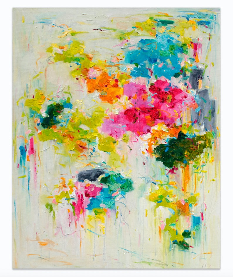 Abstract art print Abstract floral print Fine Art Print image 0