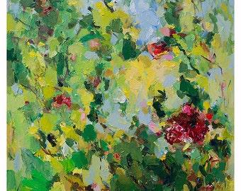 Art Prints, Abstract Painting, Oil Painting, Fine Art Print , Giclee Print , Wall Art , Wall Décor , Flower Print 11x14 12x15 16x20 20x25