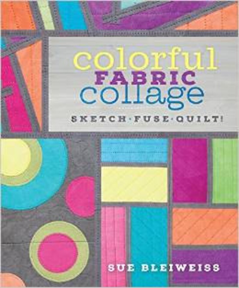 colorful fabric collage: sketch fuse quilt image 0