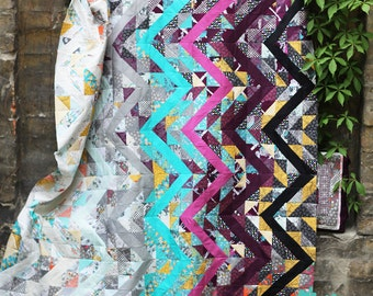 PDF pattern Instant Download Indelible RASTRUM chevron modern QUILT by Katarina Roccella