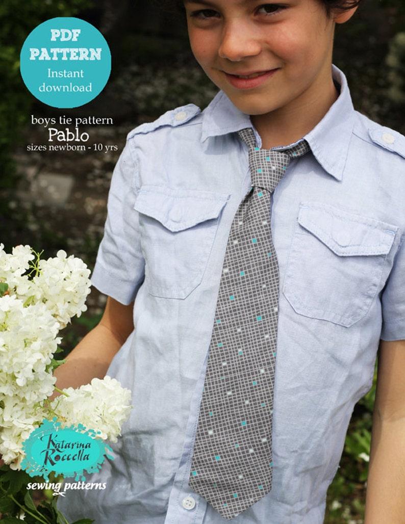PDF pattern Instant Download Pablo boys fancy strap necktie image 0