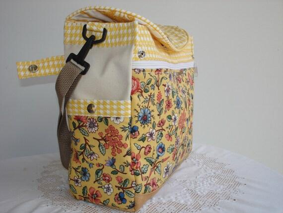 Two-way Expandable Tote BagBook BagDiaper BagProject Bag-FLORENTINE