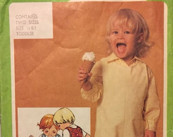 Toddlers' Overalls Sewing Pattern Simplicity 9723   Size 1/2-1 year Complete