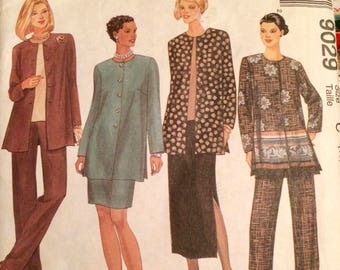 Misses' Jacket, Top, Pants, and Skirt Sewing Pattern Vintage 90's McCall's 9029 Bust 32-36 inches Complete Uncut FF