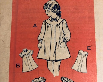 Girls' Dresses Sewing Pattern...Anne Adams Printed Pattern 4737..Size 6 Breast 25 inches Uncut  Complete