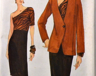Misses' Dress and Jacket Sewing Pattern Vogue 9669  Misses'  Size 6-10 or 12-16  Uncut Complete