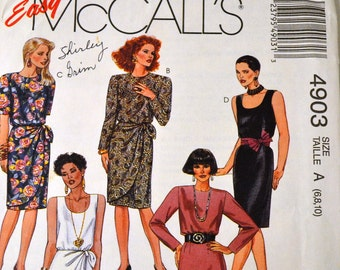 Misses' Little Black Dress Sewing Pattern Vintage  McCall's 4903   Bust 30 to 32 inches Uncut Complete