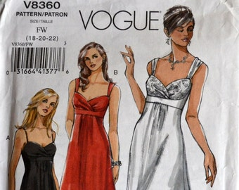 Misses' Evening Gowns Sewing Pattern Vogue 8360  Complete Bust 40-44 inches