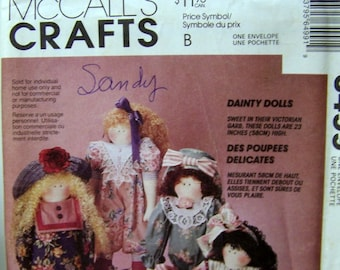 Doll Sewing Pattern McCall's 6499 23 Inch Doll Uncut Complete Original Factory Folds