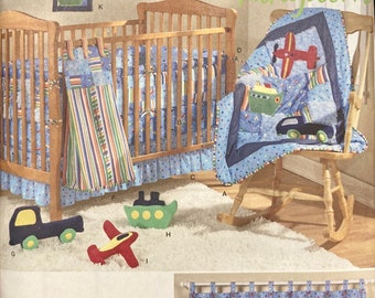 Planes, Boats, and Trucks Nursery Sewing Pattern Simplicity 2279 Complete...Uncut....Daisy Kingdom