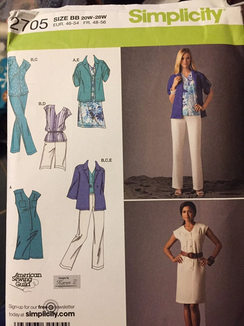 Women's Full Figure Separates Sewing Pattern Simplicity image 0
