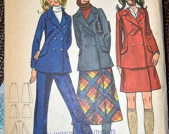 Vintage 1970's Sewing Pattern Butterick 5960 Misses' Separates Size 10 Bust 32 Uncut Complete
