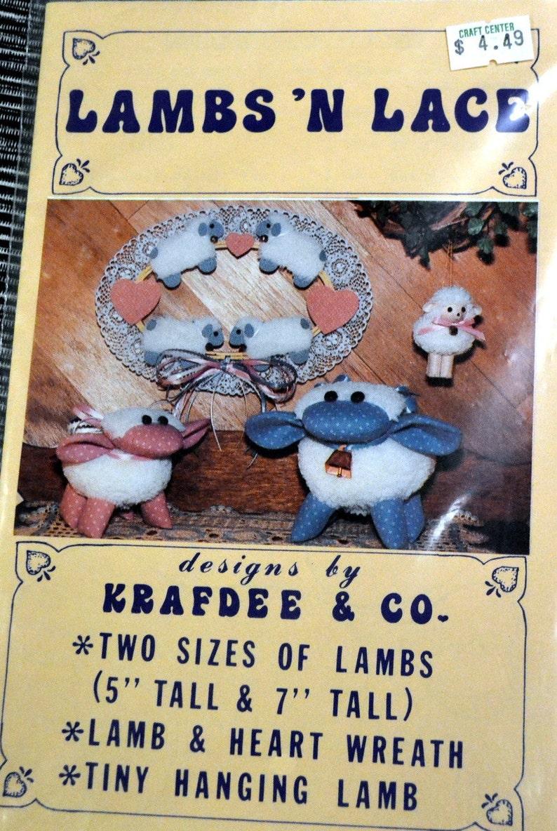 Stuffed Animal Pattern  Lambs 'N Lace Large & Small Lambs image 0