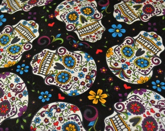 Fabric  Sugar Skulls Half Yard Day of the Dead