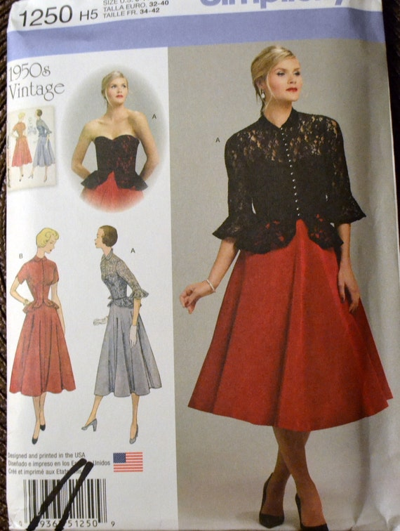 Dress And Jacket Sewing Pattern Simplicity 1250 Misses Etsy