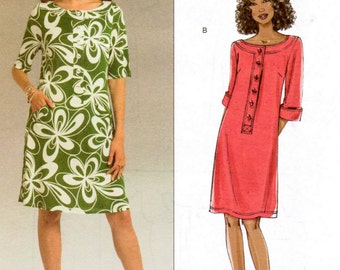 Sewing Pattern Butterick 5131 A-line Dress Sizes 8-14  Uncut Complete