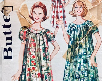 Misses' Shallow Necked Muu Muu Sewing Pattern Butterick 9946 Size 16  Bust 36 Inches Complete