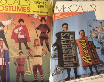 Men's Costume Sewing Patterns Choice  McCall's 4950 or McCall's 8951 Complete