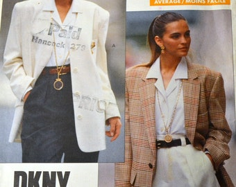 Misses' Jacket Sewing Pattern Vogue 2373 American Designer DKNY  Bust 30 -32 Inches Uncut Complete