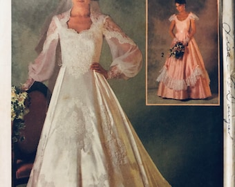 Misses' Bridal Gown Sewing Pattern...Michele Piccone...Simplicity 6764...Size 8 Bust 31.5 inches Complete Uncut