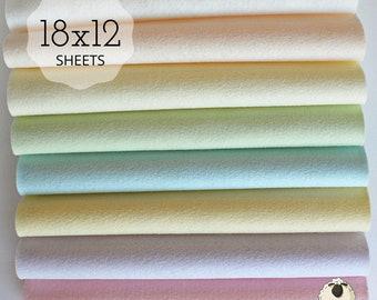 Wool  Felt Sheets Pastel Collection 6 sheets Wool blend Felt