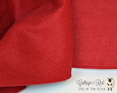 Fat Quarter, Cottage Red Wool Felt, 100 Virgin Wool Felt, Wool Felt Fabric, Wool Felt Sheets, Wool Felt Squares, Natural Wool Fabric
