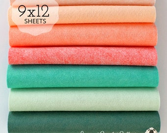 Felt Collections Wool Blend Felt Wool Felt Fabric Wool Felt Bundles Felt Fabric Bundles Wool Felt Sheets Autumn Spice Felt Collection