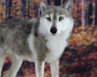 Needle Felted Timber Wolf