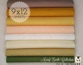 Mossy Earth Felt Collection, Wool Blend Felt, Wool Felt Sheets, Wool Felt Fabric, Felt Fabric Bundles, Wool Felt Bundles, Wool Felt