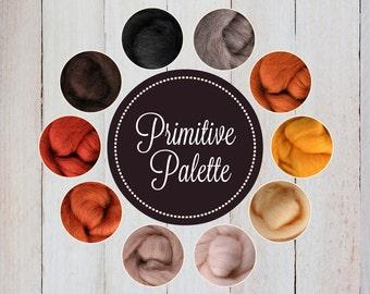 PRIM Palette, Roving Packs, Wool Roving, Wool Roving for Felting, Wool Roving for Spinning, Wool Roving for Sale, Needle Felting Supplies