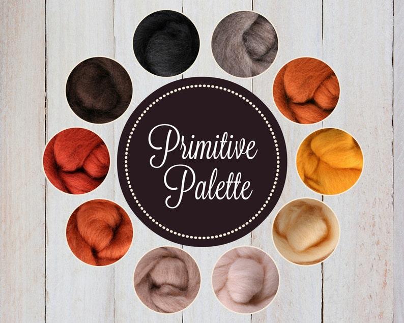 Roving Packs Wool Roving Prim Palette Wool Roving for image 0