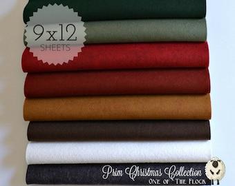 PRIM CHRISTMAS Felt Collection, Wool Blend Felt, Wool Felt Sheets, Wool Felt Fabric, Felt Fabric Bundles, Wool Felt, Christmas Felt