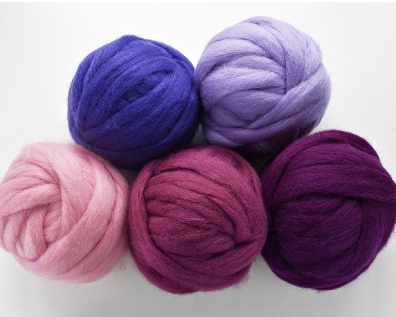 NEW  Wilde Romney Fairy Wool Roving SELECT 7 or 14 COLORS image 0