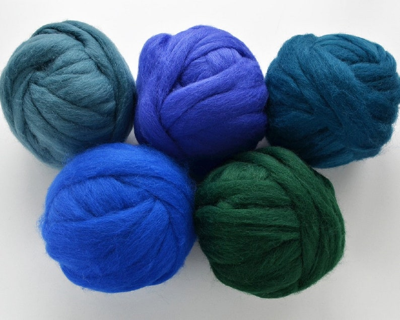 NEW  Wilde Fairy Romney Wool Roving SELECT 6 or 12 COLORS image 0