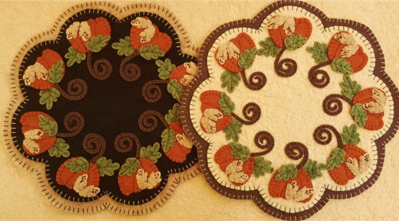 NEW October Harvest Candle Mat Kit Autumn Penny Rug Kit image 0