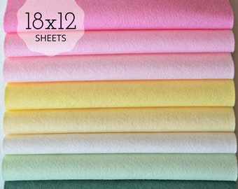 NEW *** SUGAR COOKIE Felt Collection, Wool Blend Felt, Felt Sheets Wool Felt Fabric Felt Fabric Bundles, Wool Felt Bundles, Felt Collections