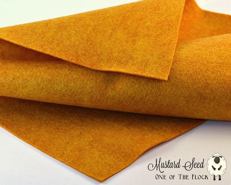 Mustard Seed Wool Felt Merino Wool Blend Felt Wool Felt image 0